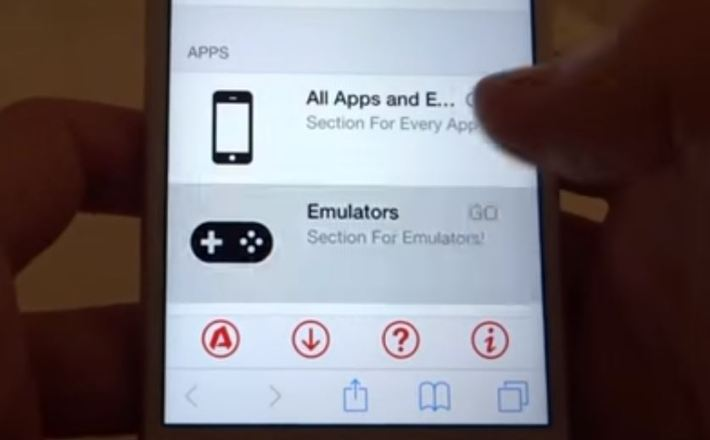 Click on Emulators after opening iOSEmus app