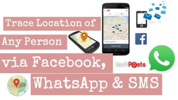 Trace IP Location using facebook, Twitter, SMS and Whatsapp