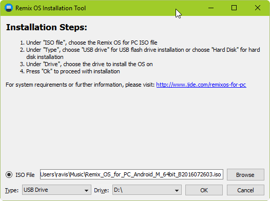 Remix OS Installer USB