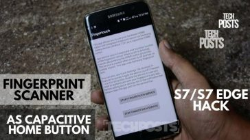 Fingerprint Scanner as Capacitive Home Button