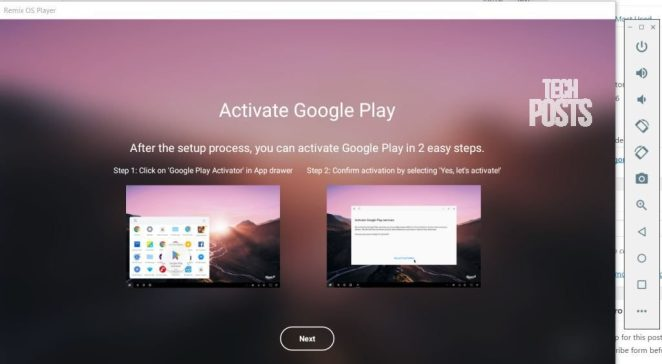 Activate Google Play Services Android Player for Windows