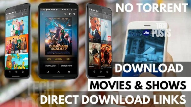Direct Download Movies and TV SHows with Direct Links - No Torrent