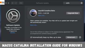 macOS Catalina Installation guide for Windows