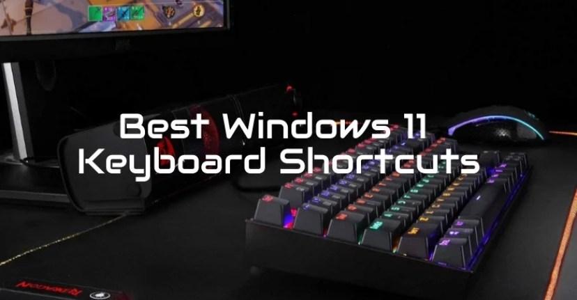 Сочетания клавиш в Windows 11