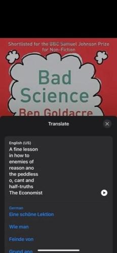 с помощью Live Text в iOS 15