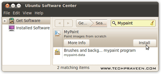 Install MyPaint in Ubuntu Linux