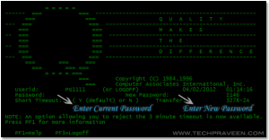 How To Change IBM Mainframe 3270 Terminal Password