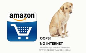 Amazon App Mobile Data Error