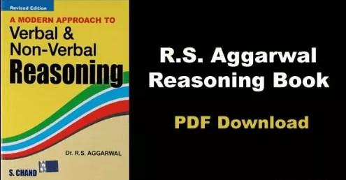 RS Agrawal Reasoning PDF