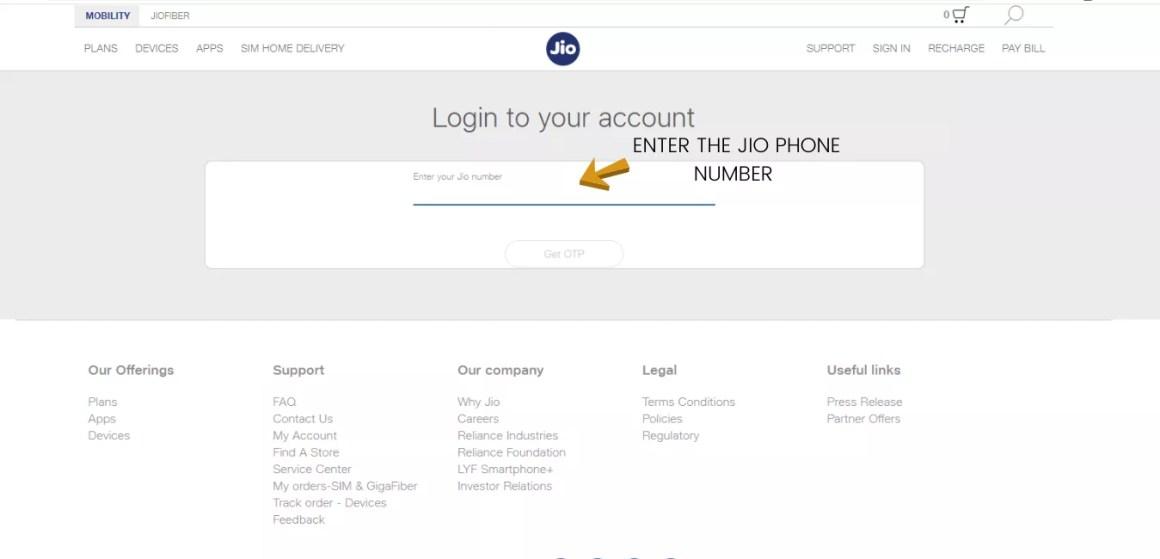 CHECK JIO DATA BALANCE THROUGH ONLINE WEBSITE
