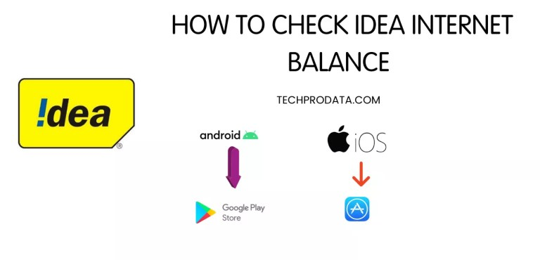 HOW TO CHECK IDEA INTERNET BALANCE