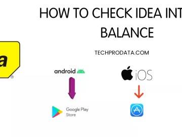 HOW TO CHECK IDEA INTERNET BALANCE