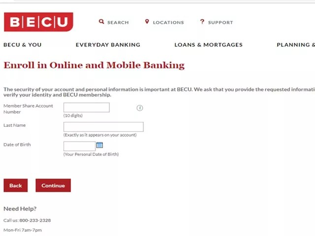 BECU ONLINE BANKING LOGIN
