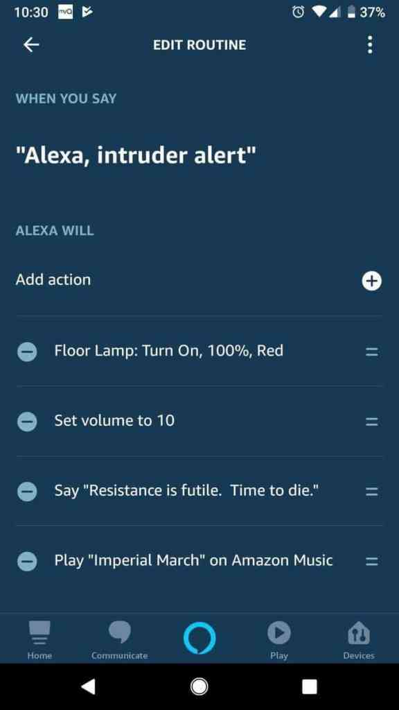 intruder alert by alexa