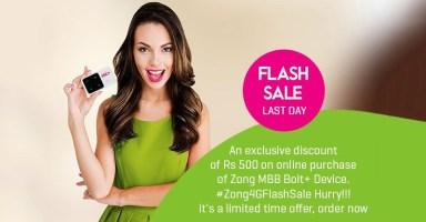 Zong 4G Flash Sale