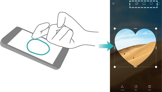 Huawei Knuckle Tap - Draw Shape