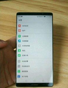 Huawei Mate 10 Leaked Image