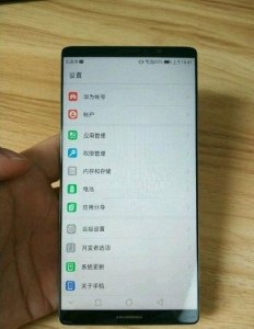 Huawei Mate 10 Leaked Image