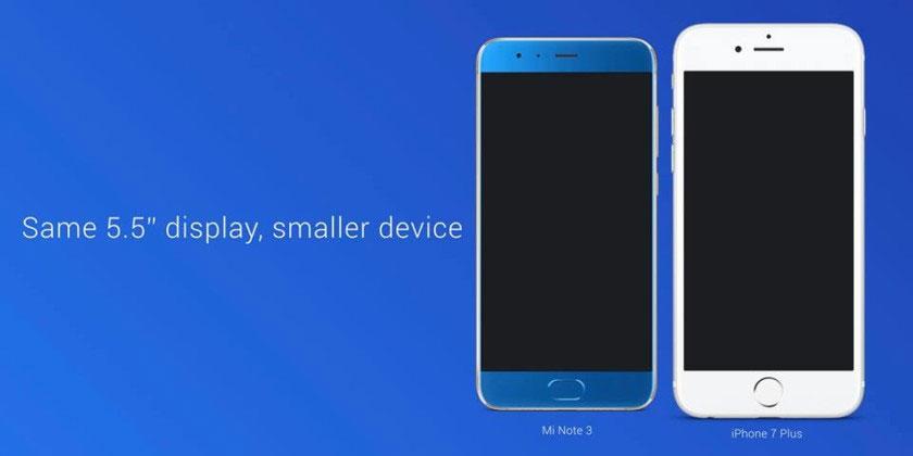 Xiaomi Mi Note 3 vs Apple iPhone 7 Plus