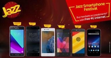 Jazz Smartphones on Installments Pakistan