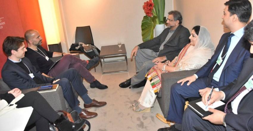 UBER CEO PM Abbasi Meeting at Davos WEF