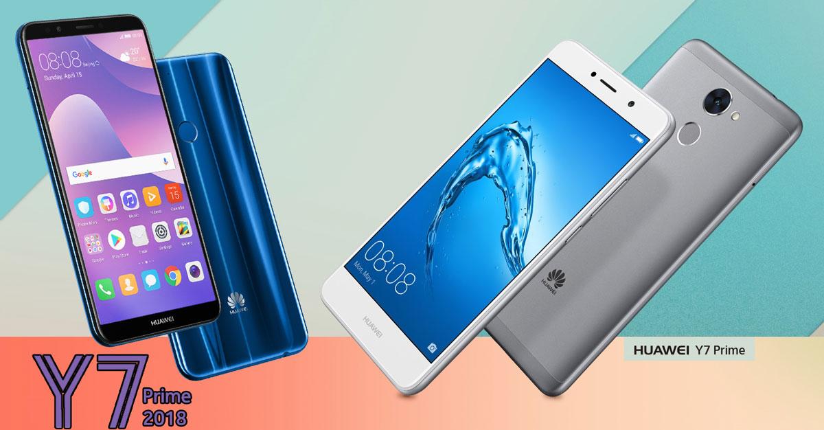 Comparison - Huawei Y7 Prime 2018 vs Huawei Y7 Prime - Tech