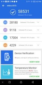 Infinix Hot S3 AnTuTu Benchmark