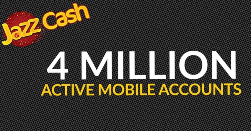 JazzCash Mobile Accounts 4 Million