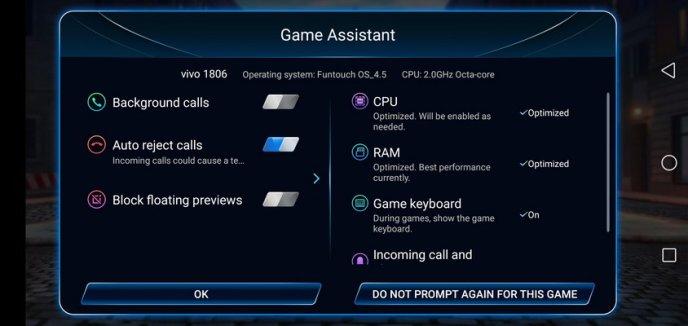 Vivo V11 Review Software Game Mode