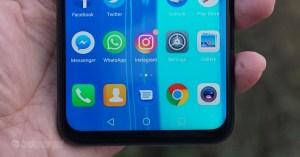 Huawei Y9 2019 Bezels