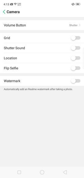 Realme C1 Camera Settings