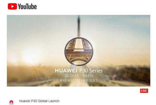 Huawei P30 Live Stream