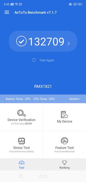 Realme 3 AnTuTu Benchmark Score