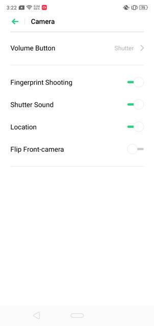 Realme 3 ColorOS 6 Camera UI