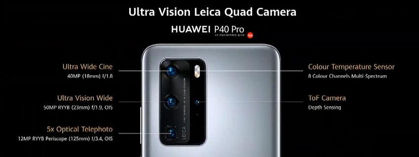 Huawei P40 Pro Quad Camera Setup