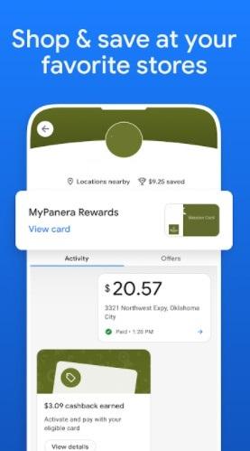 Screenshot of Google Pay App
