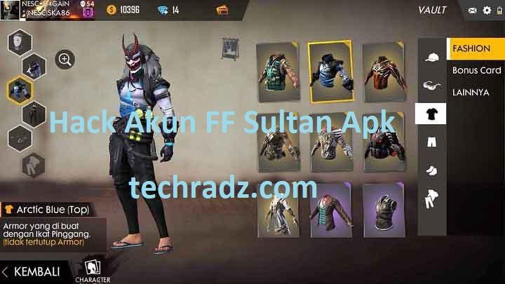 Screenshot of Hack Akun FF Sultan Apk