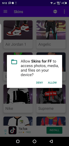 Screenshot of Skins for FF