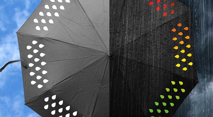 Colour your rainy day moods with colour changing umbrella