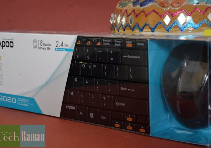 Rapoo 9020 wireless keyboard and mouse combo – review