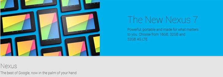 The new 2013 Nexus 7 now available on Google Play Store in India starting at Rs 20,999