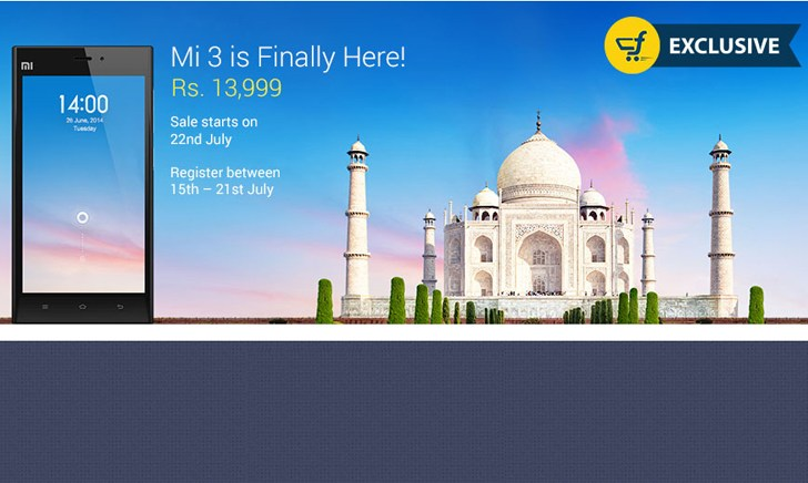Xiaomi Mi3 up for pre-order, will be available from July 22 for Rs 13,999