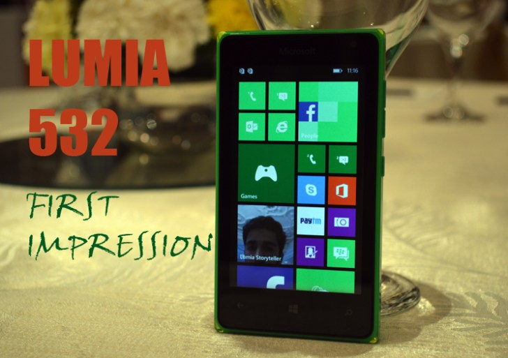 First Impression: Microsoft Lumia 532 Hands-On Review