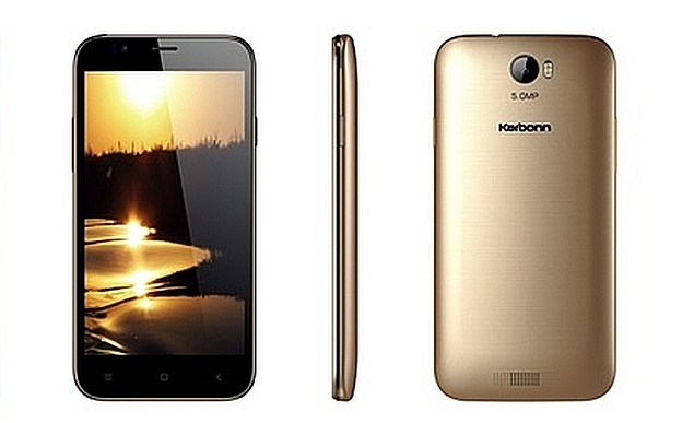 Karbonn Aura with 5″ display and quad-core processor is priced at Rs 4,990