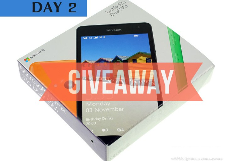 Giveaway : Day 2 Question to Win a Lumia 535