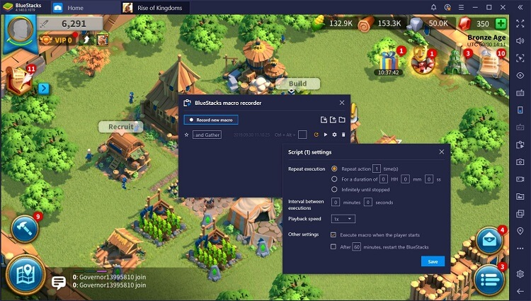 Rise of Kingdoms for PC with BlueStacks Macros_3
