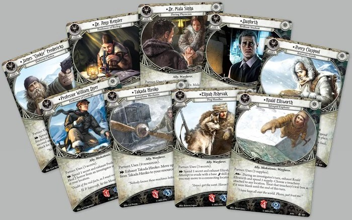 A collection of scenario cards for Arkham Horror