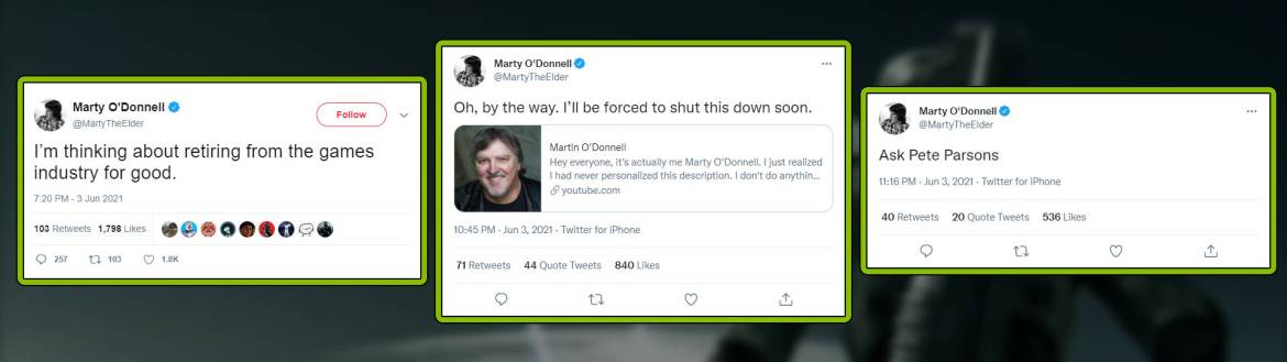Marty O'Donnell deleted tweets slice