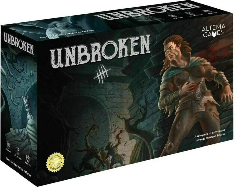 Box art of the game Unbroken