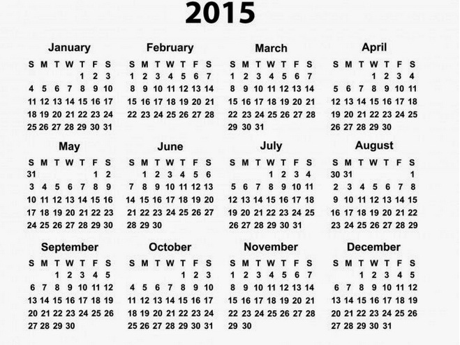 Best 2015 Calendar HD Wallpapers 2
